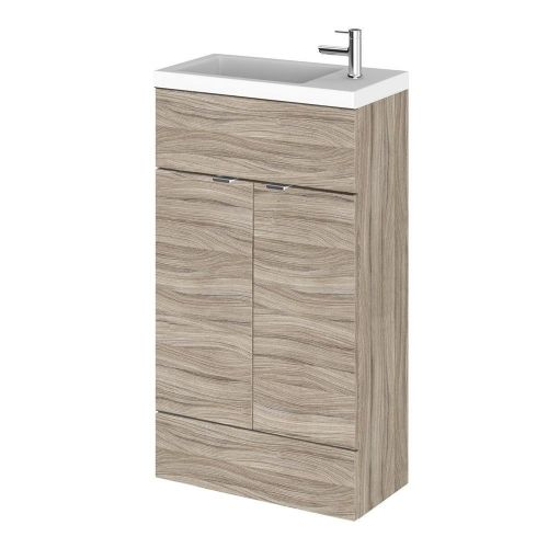 Elite Driftwood 500mm Compact Vanity Unit & Basin